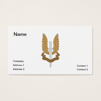 British SAS Business Card