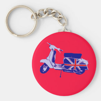 British scooter basic round button key ring