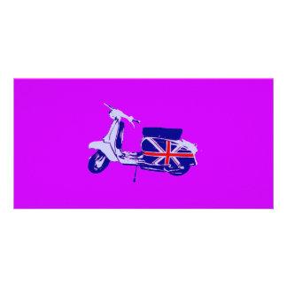British scooter custom photo card