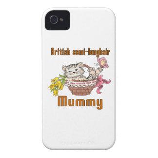 British semi-longhair Cat Mom iPhone 4 Case-Mate Case