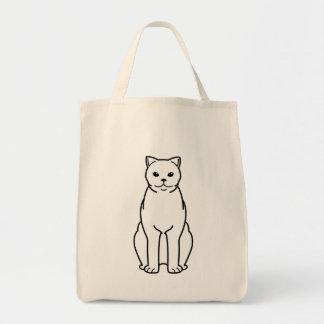 British Shorthair Cat Cartoon Tote Bags
