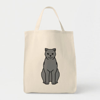 British Shorthair Cat Cartoon Tote Bag
