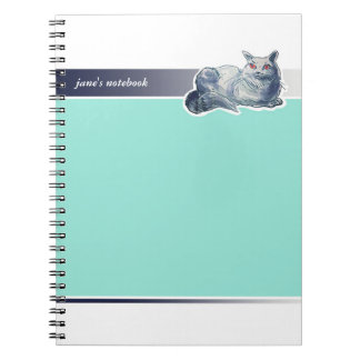 british shorthair cat cartoon style illustration notebooks