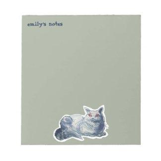british shorthair cat cartoon style illustration notepad