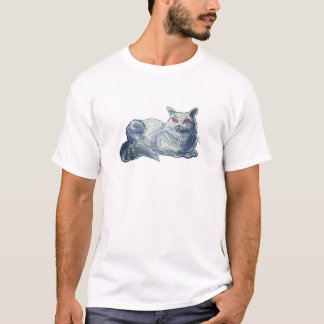 british shorthair cat cartoon style illustration T-Shirt