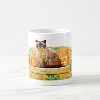 British Shorthair Cat, Funny Modern Cat Art Mug