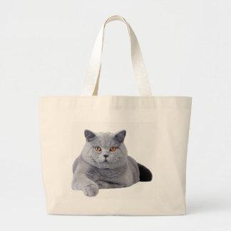 British shorthair cat jumbo tote bag
