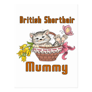 British Shorthair Cat Mom Postcard
