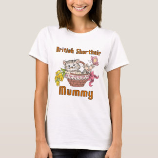 British Shorthair Cat Mom T-Shirt