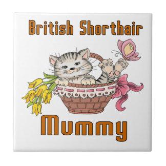 British Shorthair Cat Mom Tile