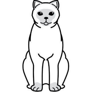 British Shorthair Colourpointed Cat Cartoon Standing Photo Sculpture