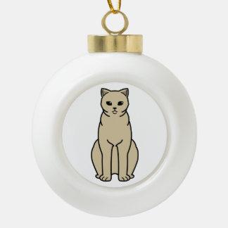 British Shorthair Self Cat Cartoon Ceramic Ball Decoration