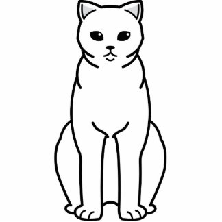 British Shorthair Self Cat Cartoon Standing Photo Sculpture