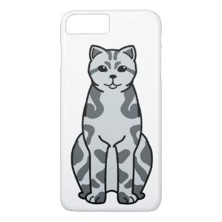 British Shorthair Tabby Cat Cartoon iPhone 7 Plus Case