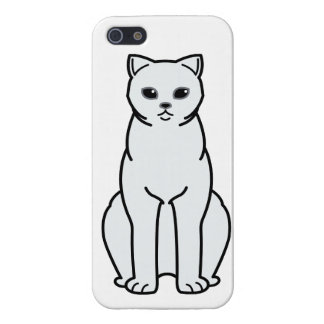 British Shorthair Tipped Cat Cartoon iPhone 5/5S Covers