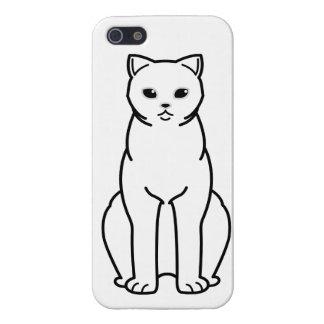 British Shorthair Tipped Cat Cartoon iPhone 5 Cases