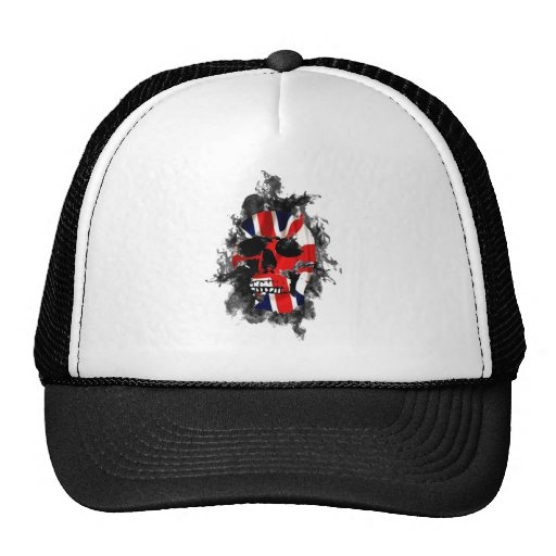 british skull mesh hats