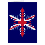 British Snowflake Greeting Card