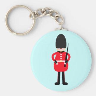 British Soldier Basic Round Button Key Ring