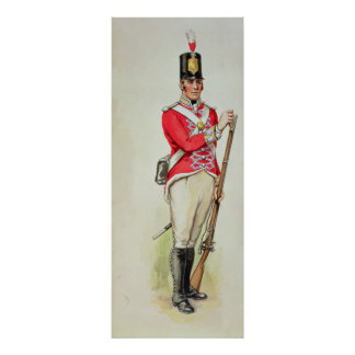 British soldier in Napoleonic times Poster