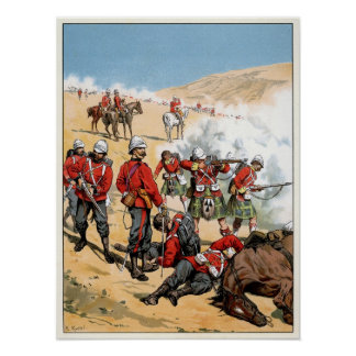 British soldiers of the 19th century poster