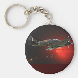 British Spitfire Basic Round Button Key Ring