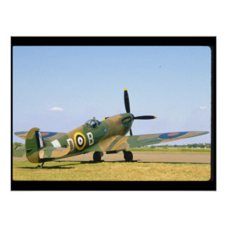 British Spitfire, Rear Quarter View_WWII Planes Poster