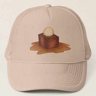 British Sticky Toffee Pudding Dessert Foodie Hat