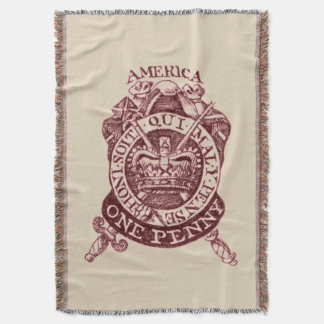British Tax Stamp 1765 Blanket