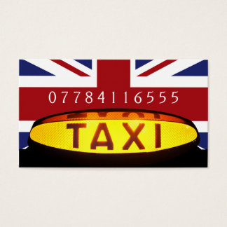 British Taxi Firm Business Card