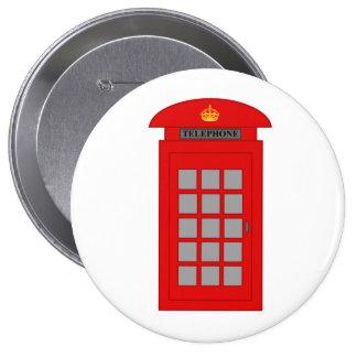 British Telephone Box 10 Cm Round Badge