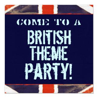 British Theme Party Invitation (Square)