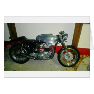 British Triton Motorcycle. Card