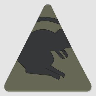 British Troops Iraq Foreign Military Patch Triangle Sticker