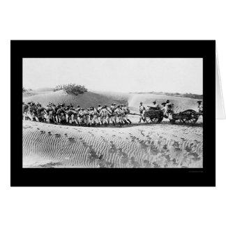 British Troops Pulling a Field Gun 1914 Card
