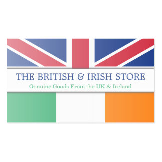 British UK & Irish Flag Customizable Business Card