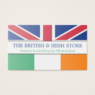 British UK & Irish Flag Customizable Business Card