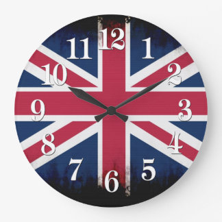 British Union Flag Union Jack Patriotic Design Large Clock