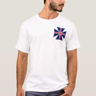 British Union Jack Biker Maltese Iron Cross T-Shirt