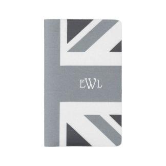 British Union Jack | Black Jack Flag Custom Large Moleskine Notebook
