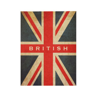 British Union Jack Custom Wooden Poster Wood Poster