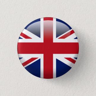 British Union Jack Flag 3 Cm Round Badge
