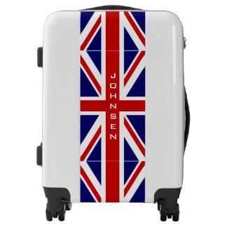 British Union Jack flag carry on luggage suitcase