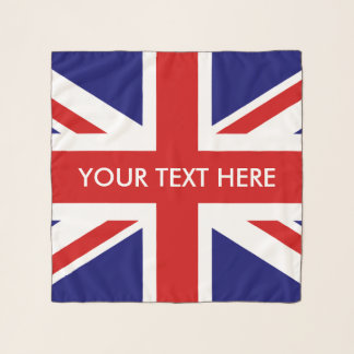 British Union Jack flag custom chiffon scarf