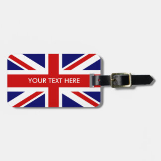 British Union Jack flag custom travel luggage tags