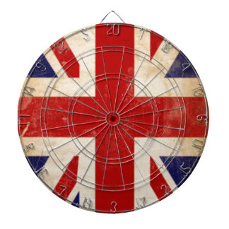 British Union Jack Flag Dartboard