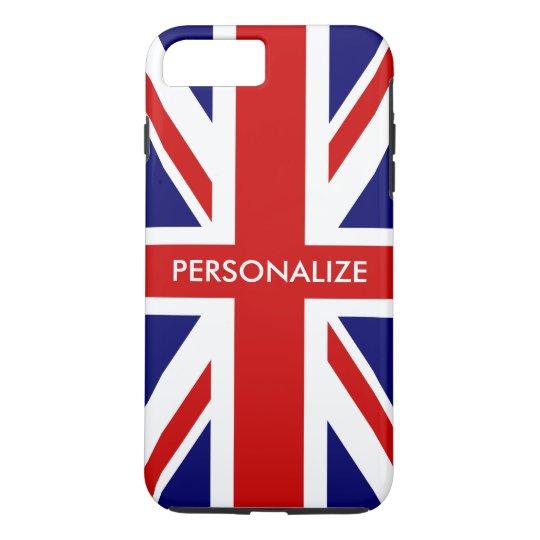 British Union Jack flag English pride personalised iPhone 8 Plus/7 Plus Case