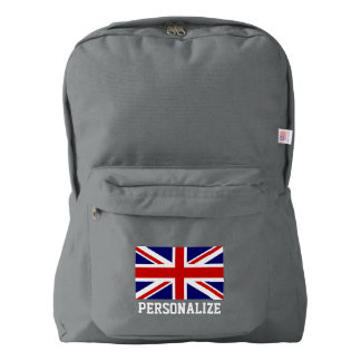 British Union Jack flag English pride personalized Backpack
