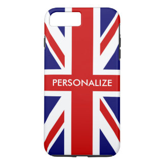 British Union Jack flag English pride personalized iPhone 8 Plus/7 Plus Case