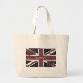 British Union Jack Flag Grunge Art Bags